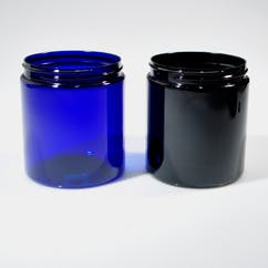 19 oz. Black Round PET Jar (#223272) Plastic bottle sold by Berlin Packaging