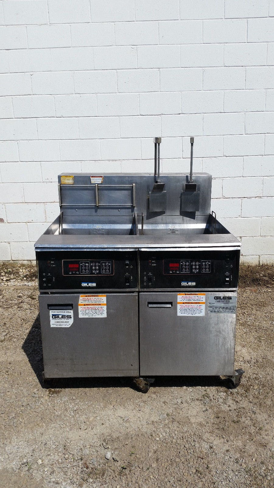 Giles Double Vat Deep Fat Fryer Filter Box EOF.20 480v Removed Working - sold by Jak's Restaurant Supply