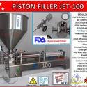 Piston Filler Single Head JET-100 Fills Liquids, Pastes, Scrubs, Peanut Butter, Dressings - Bottle filler sold by Pro Fill Equipment