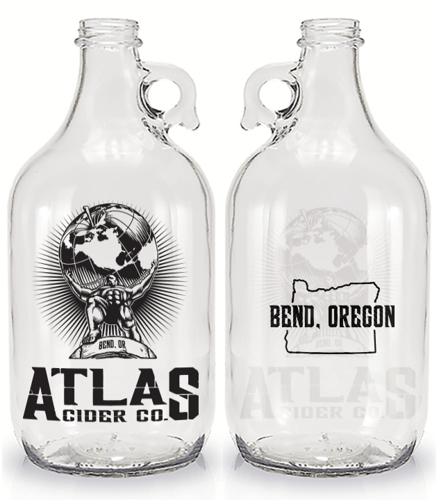 64oz Flint Growler Growler sold by Cascade Graphics