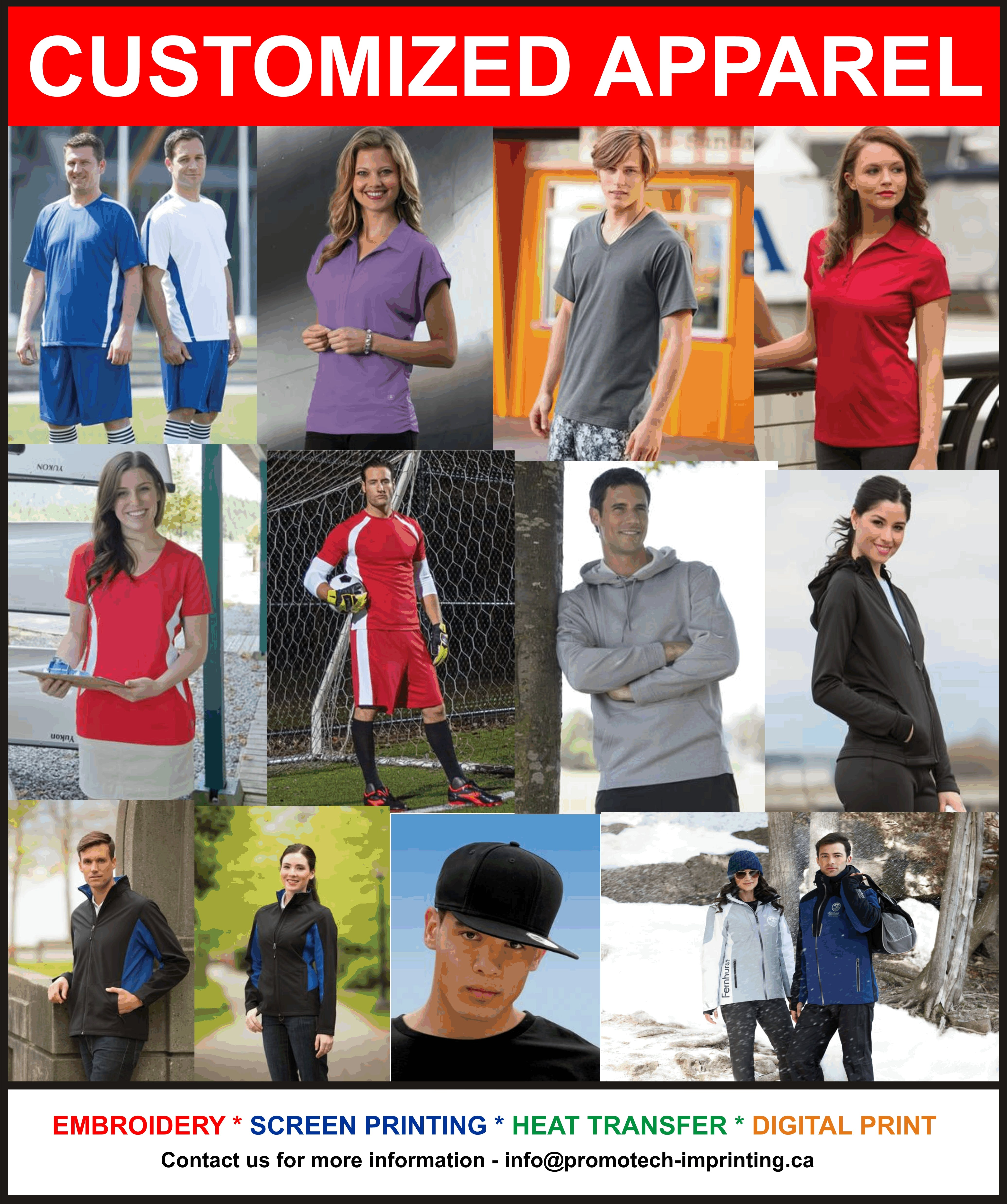CUSTOMIZED APPAREL - CUSTOMIZED APPAREL - sold by PromoTech Custom Imprinting