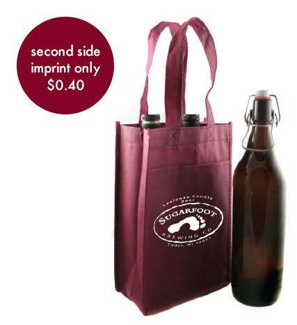 Beer & Wine Bag - 2 Count Promotional product sold by Prestige Glassware
