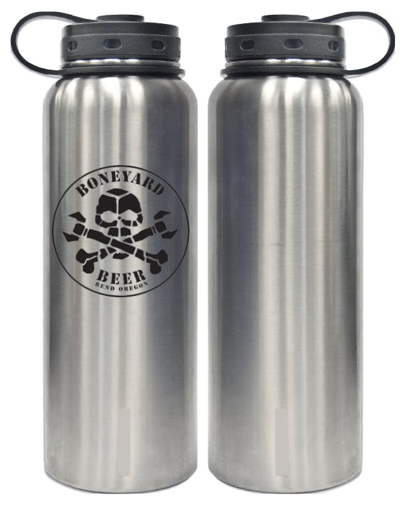 40oz Stainless Double-Walled Insulated Growler Growler sold by Cascade Graphics
