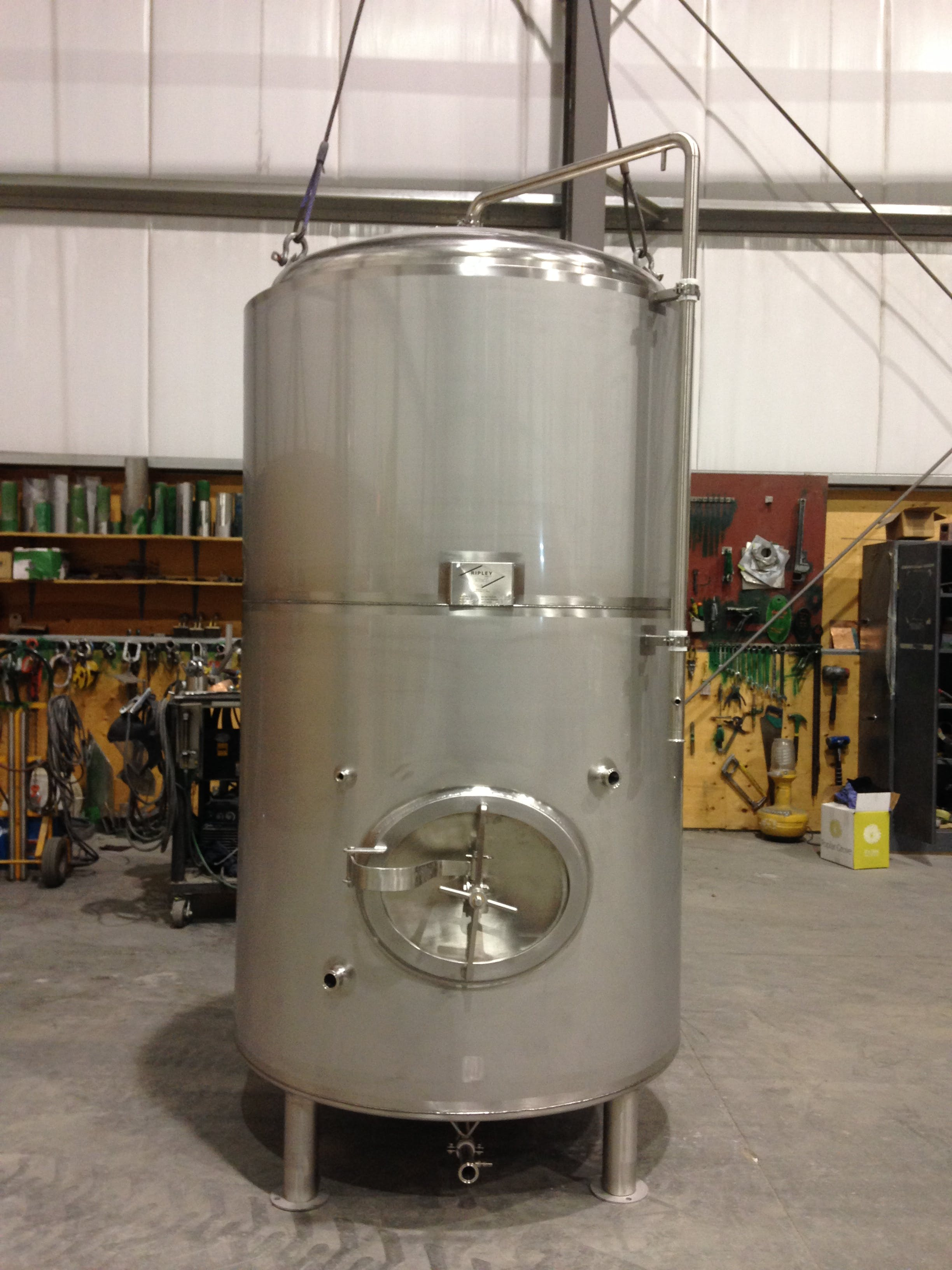 Brite Beer Tanks Bright tank sold by Ripley Stainless Ltd