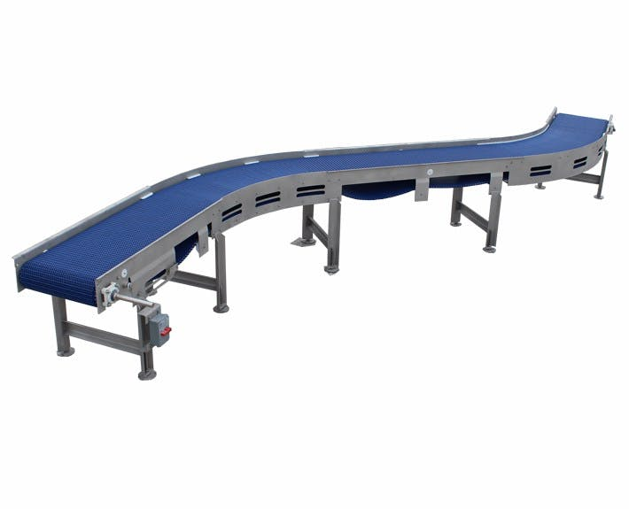 Double Radius Incline Conveyor Conveyor sold by Fusion Tech Integrated Inc.