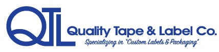 Quality tape and label logo