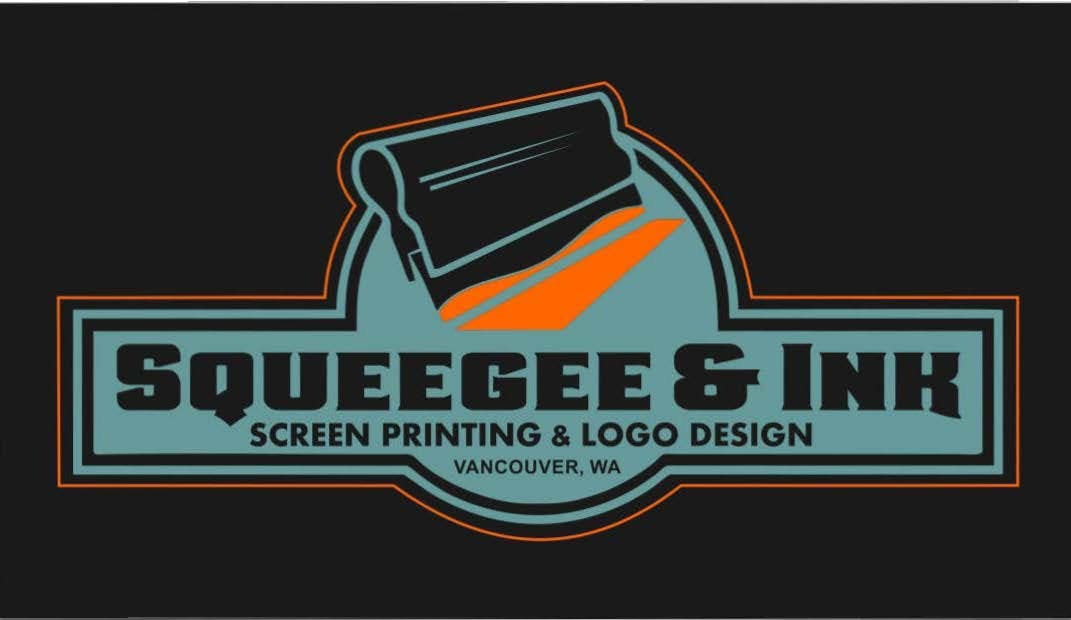 Squeegee & Ink T shirt and Logo design (Triton Print and Pour) logo