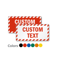 Customized Rectangle Sign with Striped Border: Custom Sign - Add Own Text - sold by Smartsign