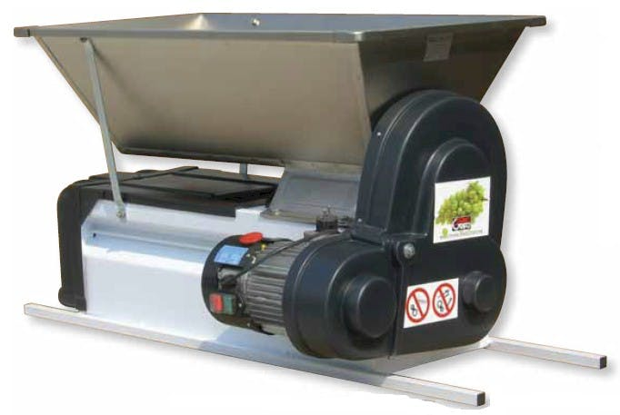 Grifo Semi Stainless Steel Metal Motor Powered Grape Crusher/ De-Stemmer With Stainless Steel Hopper And Painted Steel Body Grape crusher/destemmer sold by Gino Pinto INC